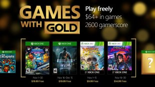 Games with Gold for November 2016 Announced