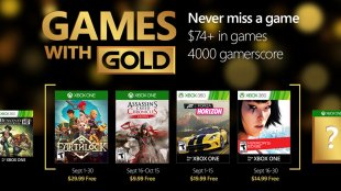 Games with Gold For September 2016
